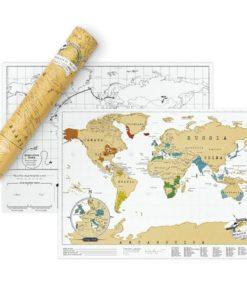 Carte du Monde à Gratter Edition Voyage