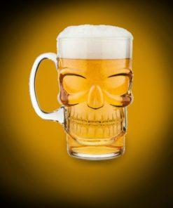 Chope de Bière Tête de Mort