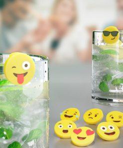 Marque-Verres Emoji (x8)
