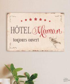 Plaque vintage déco hôtel maman