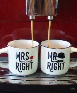 Duo de Tasses pour Expresso Mr et Mrs